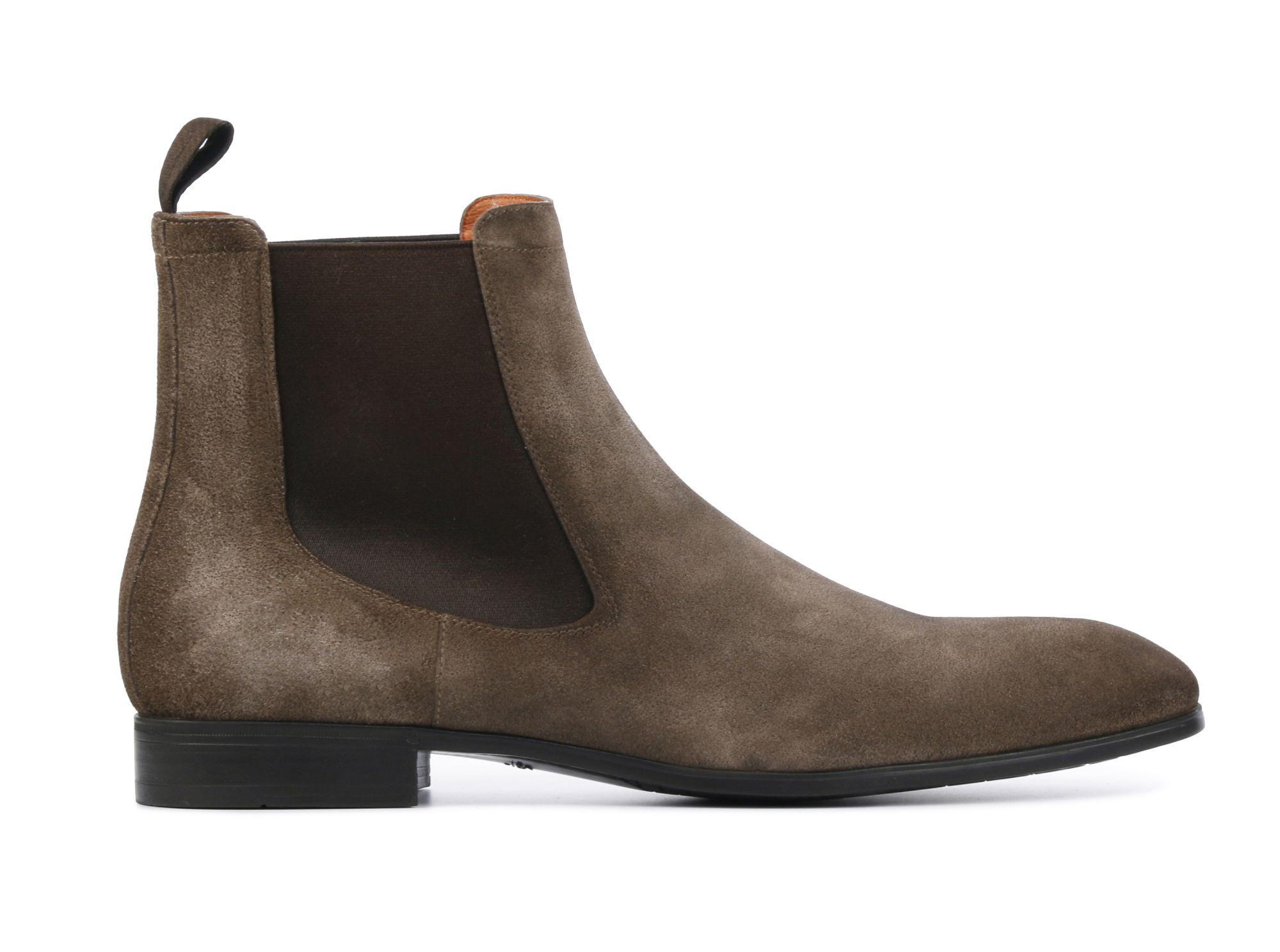 Santoni Heren Leren Boots